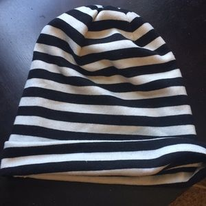 Black and White striped Forever 21 Beanie